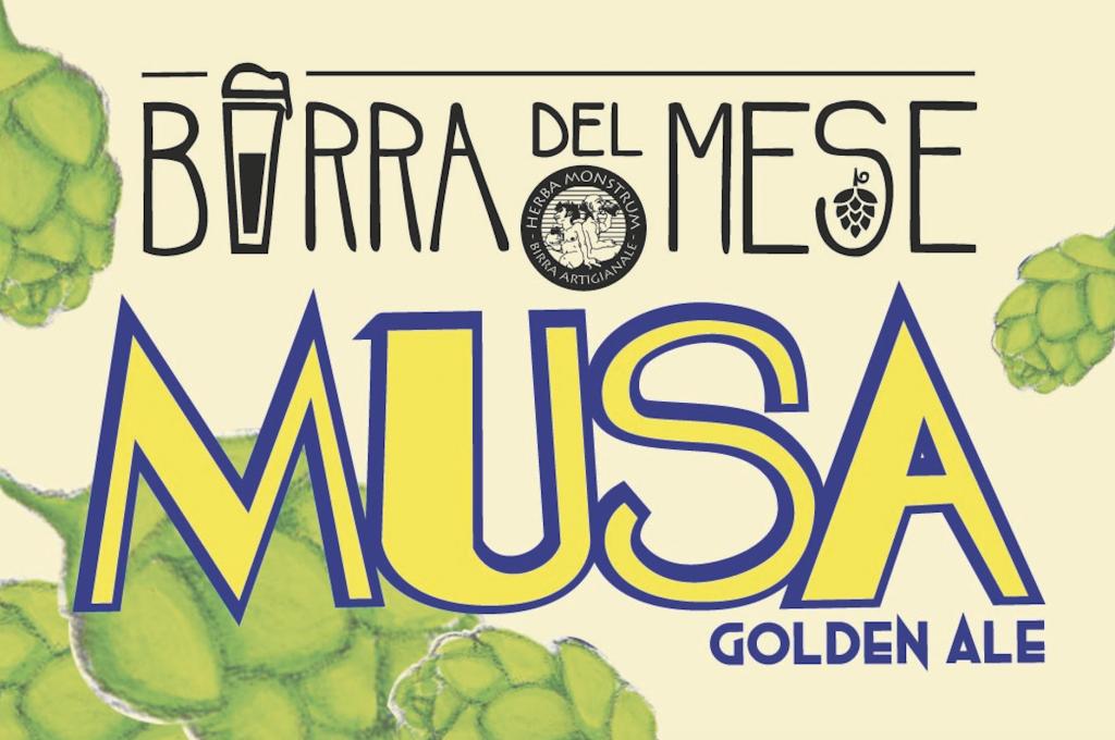 TESSERA FRONTE. Musa, birra di Aprile 2019. Herba Monstrum Brewery via Ettore Monti, 29, 23851 in zona Ponte Azzone Visconti Lecco.