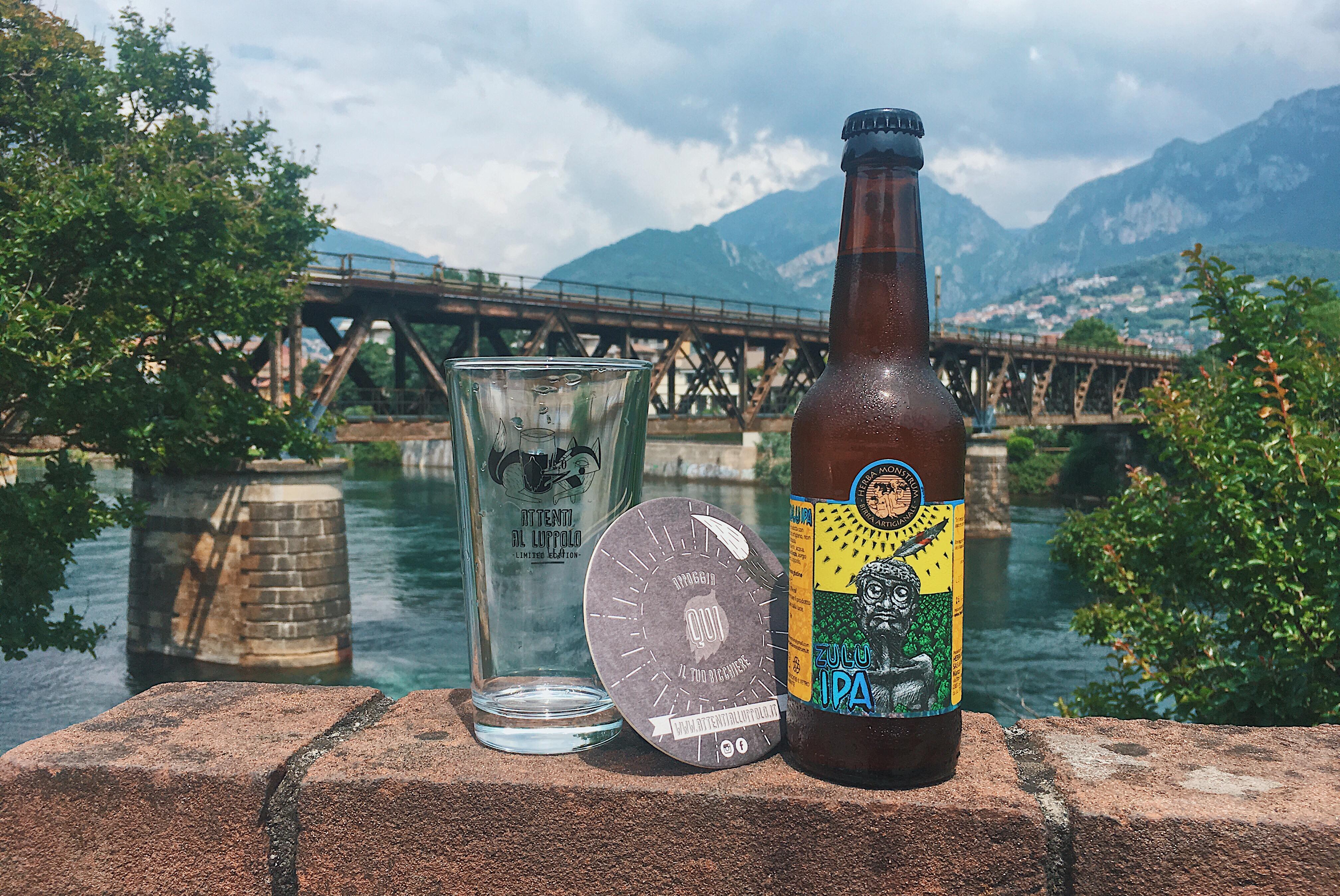"""""""Attenti al Luppolo"""" Zulu IPA Herba Monstrum Brewery, in via Ettore Monti, 29, 23851 in zona Ponte Azzone Visconti Lecco"""