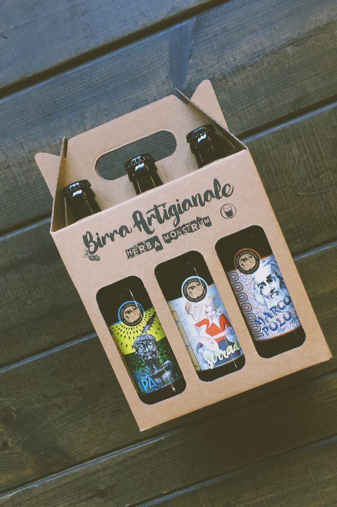 Natale 2018, BOX6TU pacco da 6 birre artigianali costa € 18 - Herba Monstrum Brewery via Ettore Monti, 29, 23851 in zona Ponte Azzone Visconti Lecco.