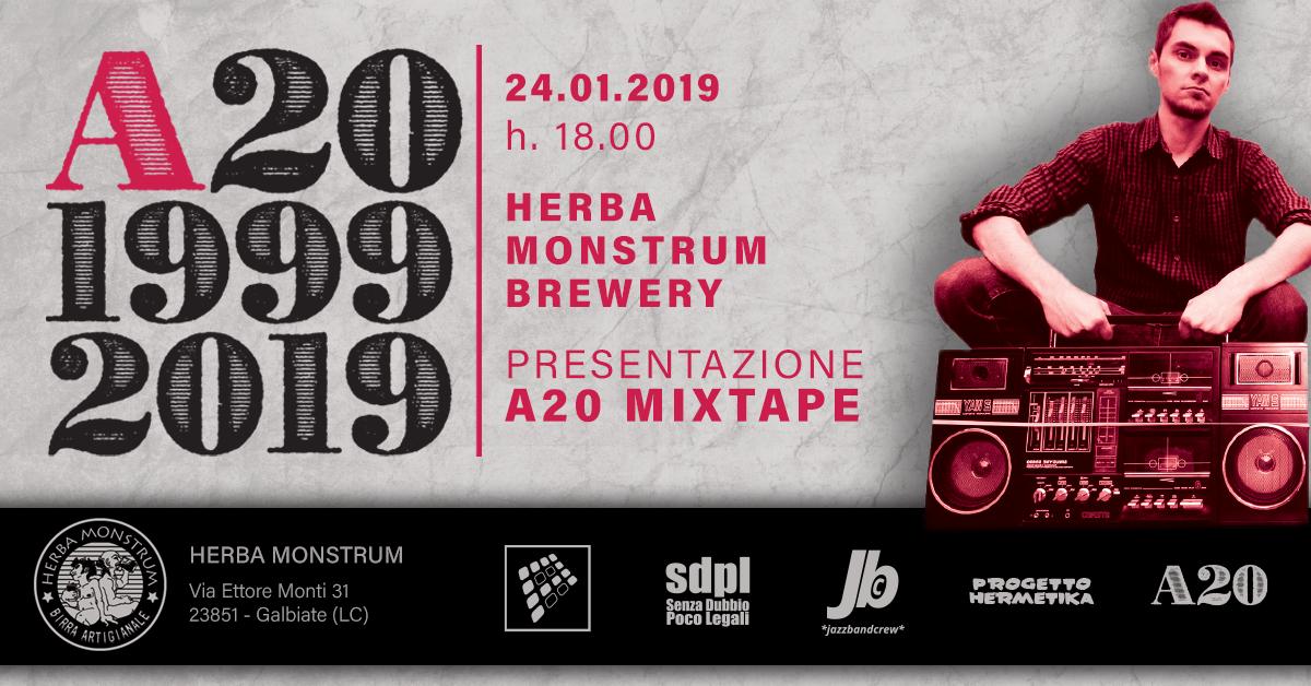 A20 MIXTAPE. Herba Monstrum Brewery via Ettore Monti, 29, 23851 in zona Ponte Azzone Visconti Lecco.
