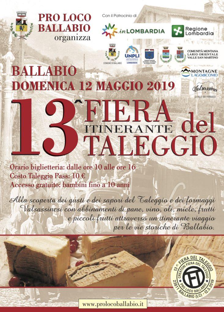 Locandina. 13 FIERA del Taleggio, Ballabio. Domenica 12 maggio 2019. Herba Monstrum Brewery via Ettore Monti, 29, 23851 in zona Ponte Azzone Visconti Lecco.