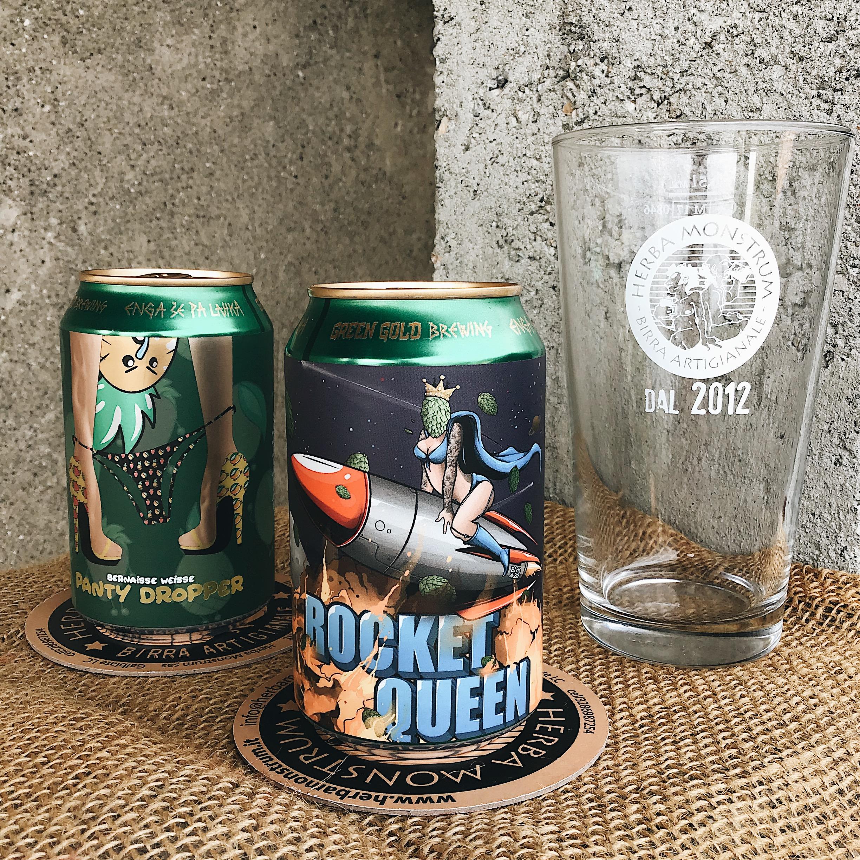 Nuove birre ospiti: Green Gold Brewing. Rocket Queen e Panty Dropper. Birre artigianali alla spina di Herba Monstrum Brewery via Ettore Monti, 29, 23851 in zona Ponte Azzone Visconti.