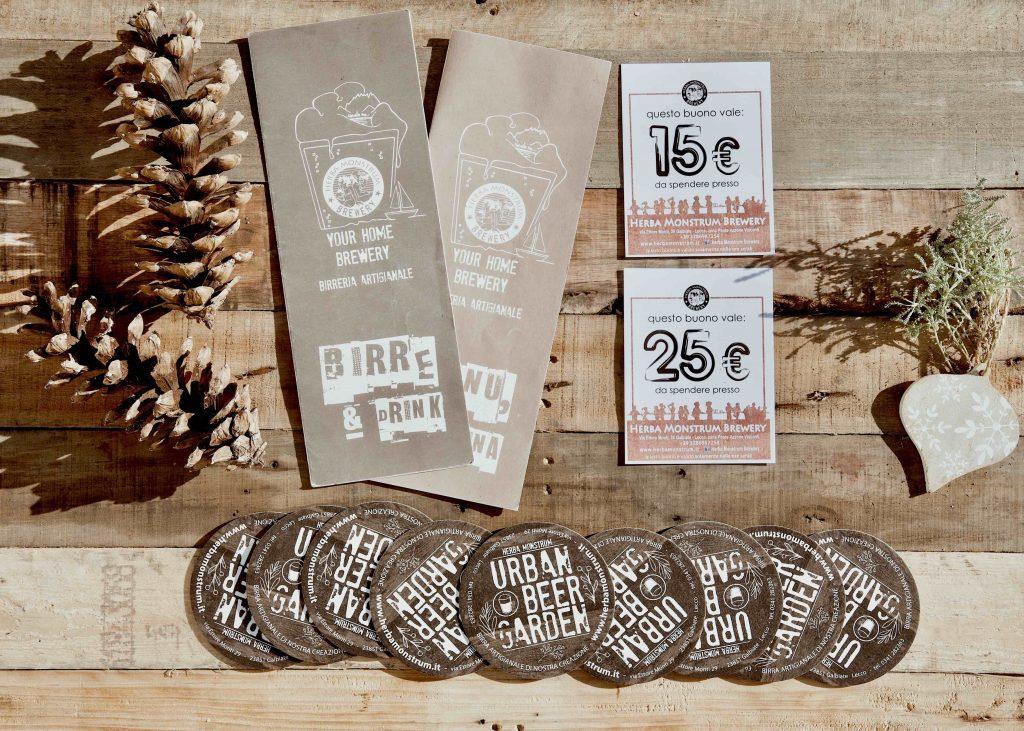 Regali di Natale 2020 Gift Card 15 25 euro Herba Monstrum Brewery via Ettore Monti, 29, 23851 in zona Ponte Azzone Visconti Lecco. Birre artigianali Lecco.
