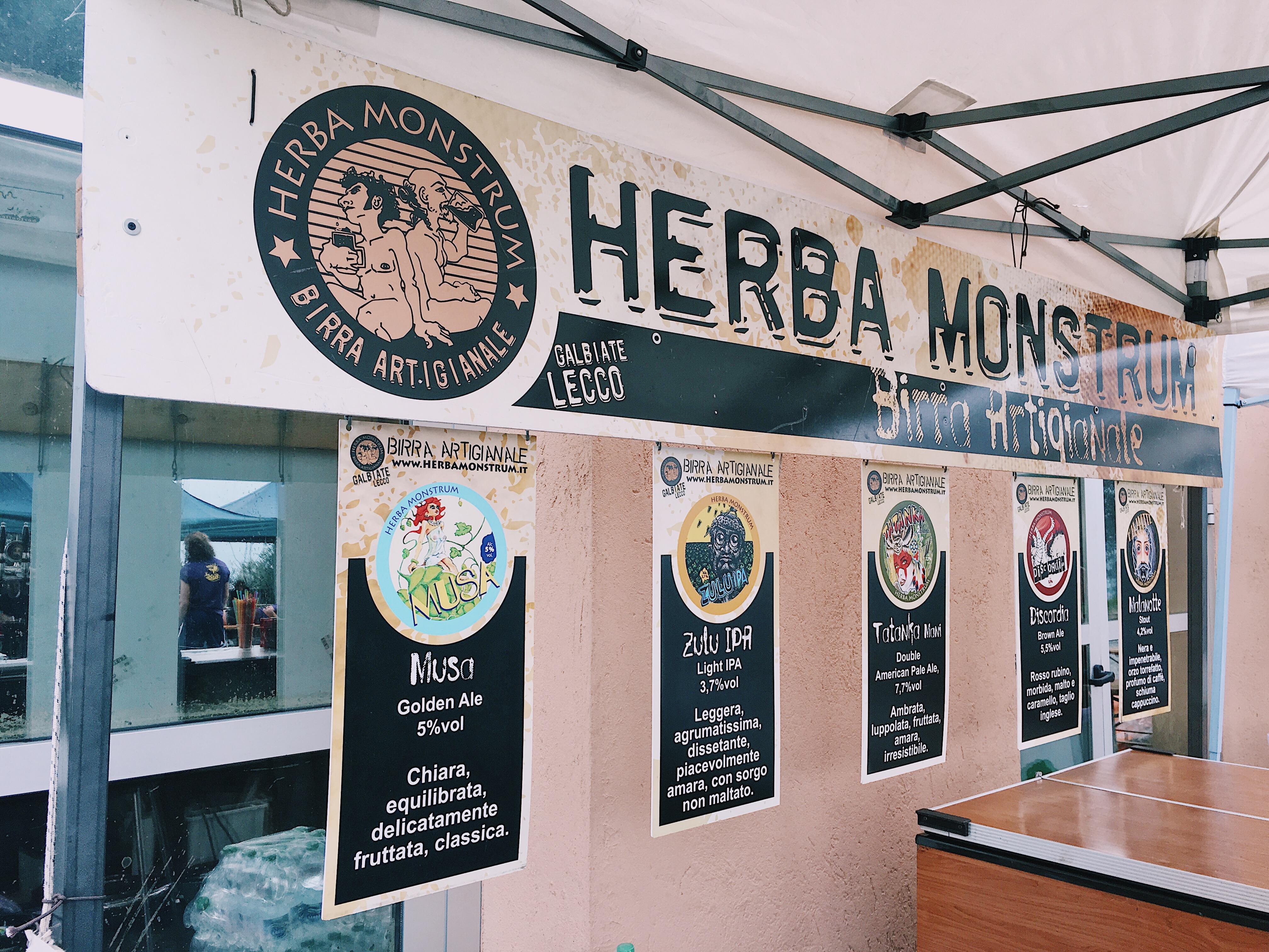 Le birre artigianali di Herba Monstrum Brewery al Valma Street Block, Civate Edition - 7 aprile 2018