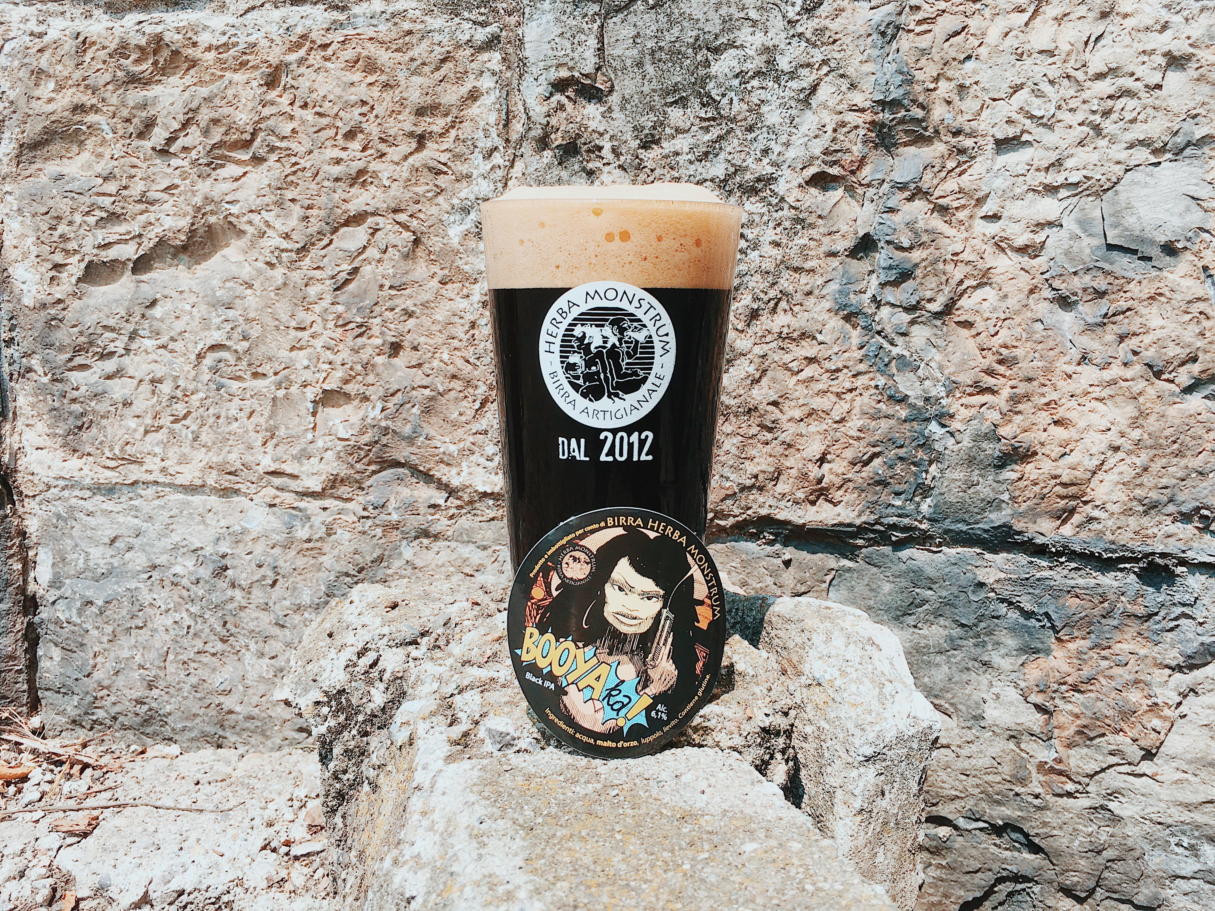 Booyaka, la nuova birra di Herba Monstrum. BLACK IPA (6,1%) presentazione sabato 14 luglio 2018 al Parco Ludico di Galbiate
