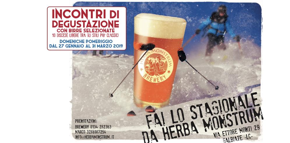 Incontri di degustazione con birre selezionate insieme a Daniele Cogliati - Herba Monstrum Brewery via Ettore Monti, 29, 23851 in zona Ponte Azzone Visconti Lecco.